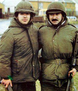 El Sargento Rovedatti y su hijo Luis